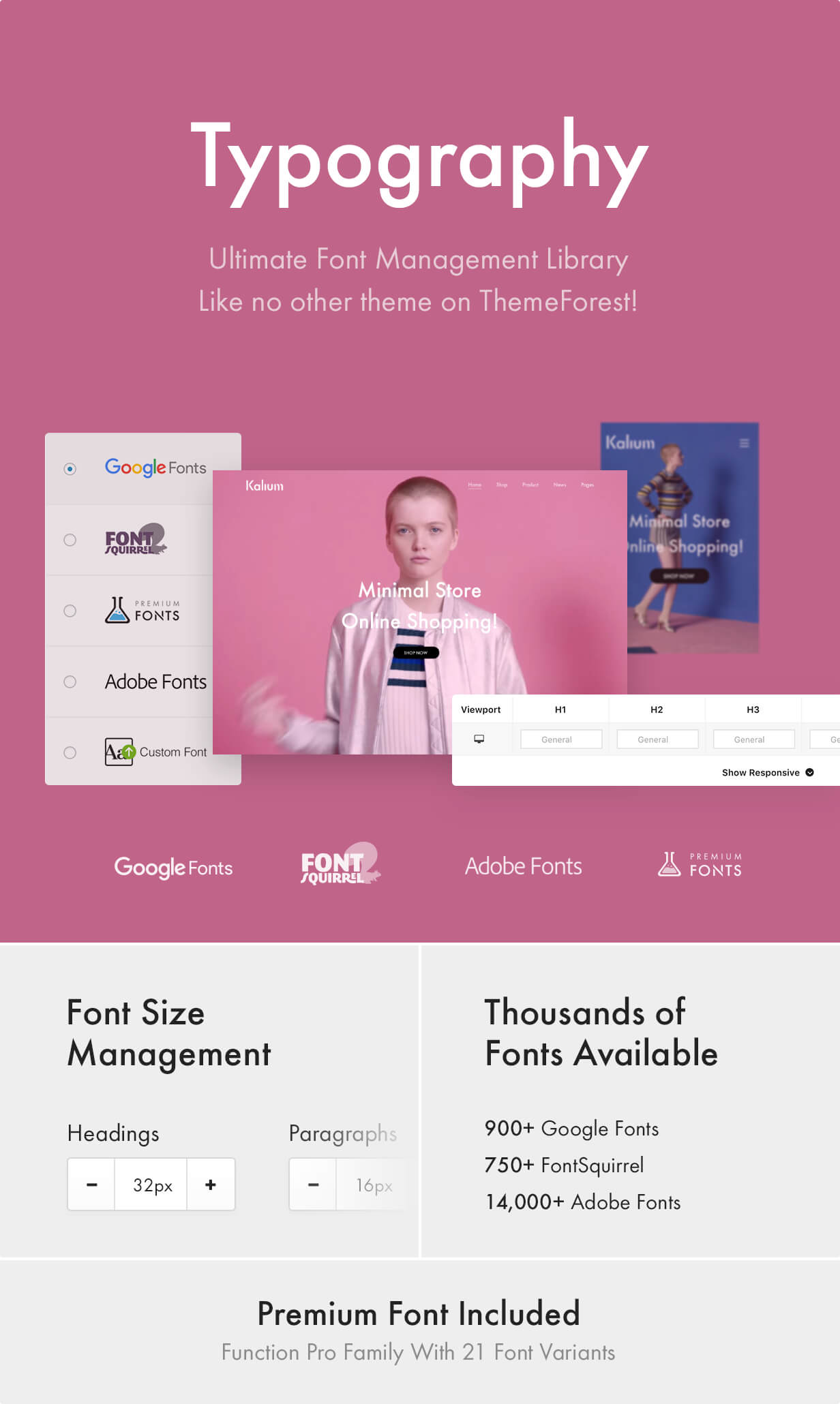 Ultimate Typography - Google Fonts, Font Squirrel, Adobe Fonts (formerly TypeKit), Premium Fonts and Custom Fonts