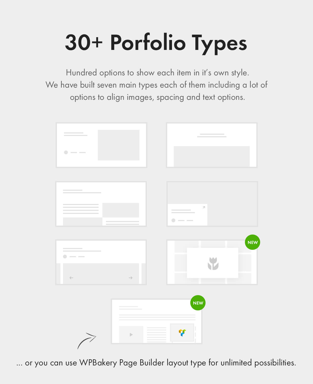 30+ Professionally Designed Portfolio Styles or build your own layout for unlimited possibilities.