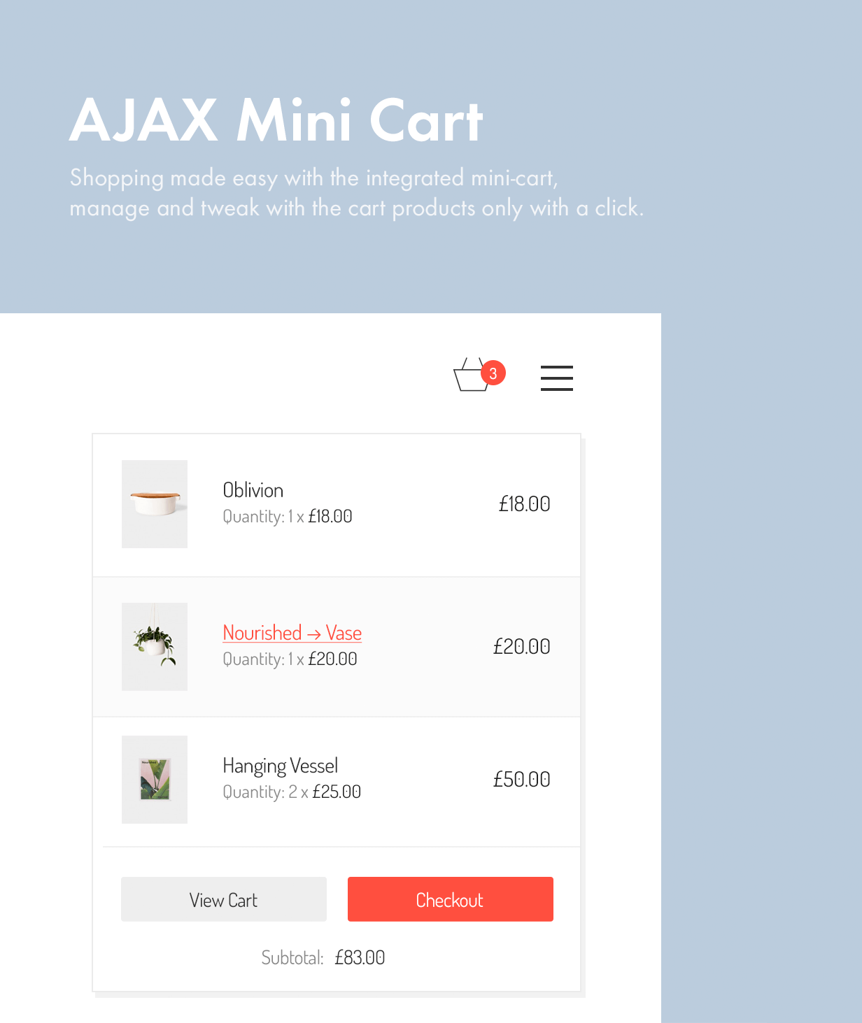 AJAX Mini Cart ajax mini cart - Kalium – Creative Theme for Professionals