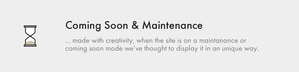 Coming Soon and Maintenance Pages coming soon and maintenance - Kalium – Creative Theme for Professionals