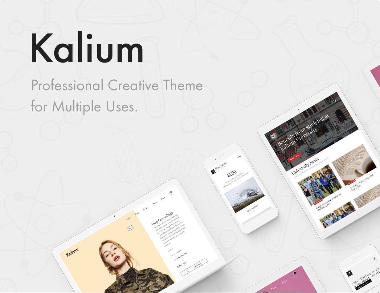 Kalium — Proffesional Creative Theme for Multiple Uses