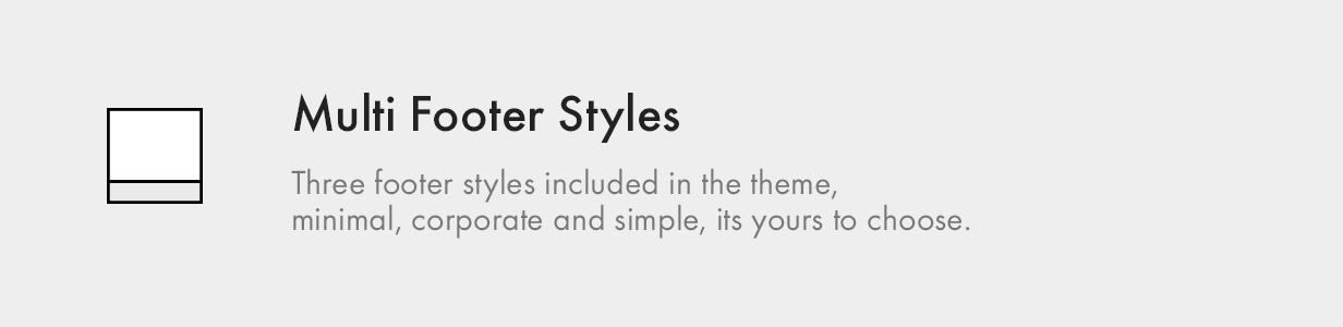 Multiple Footer Styles multi footer styles - Kalium – Creative Theme for Professionals