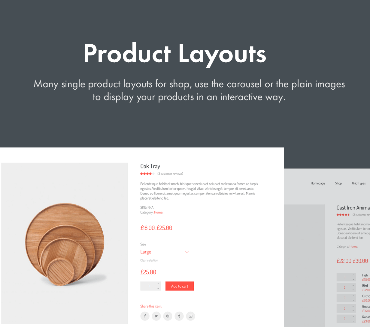 Many Product Layout Styles  - product layouts - Kalium – Creative Theme for Professionals