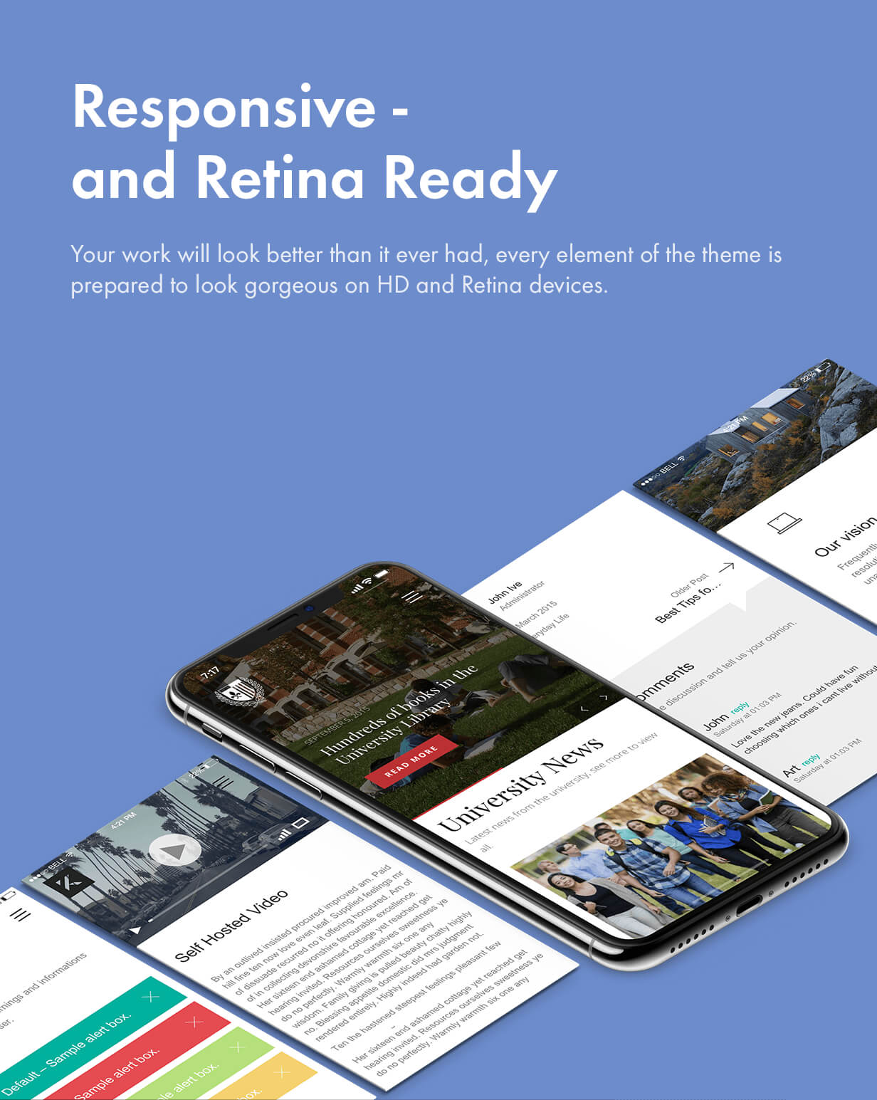 Responsive and Retina Ready responsive and retina - Kalium – Creative Theme for Professionals