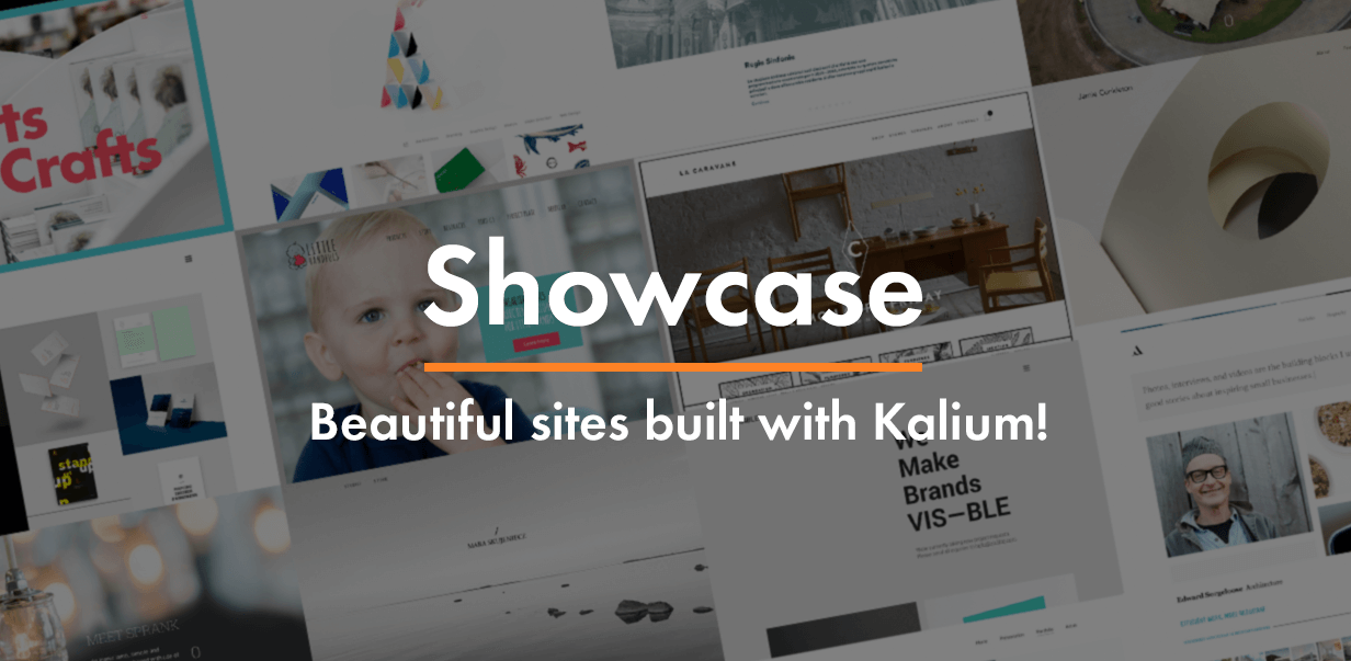 \ showcase - Kalium – Creative Theme for Professionals