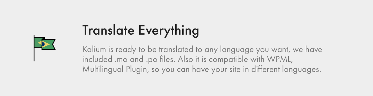 Kalium is already translated in 16 languages. You can also easy edit theme words.