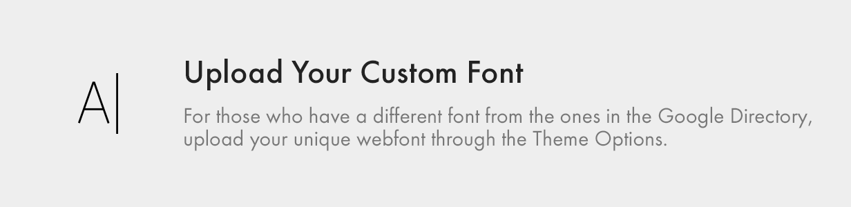 Upload your Custom Font upload your custom font - Kalium – Creative Theme for Professionals