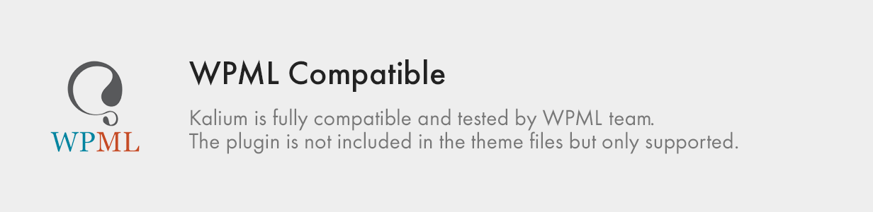 WPML Compatible wpml compatible - Kalium – Creative Theme for Professionals
